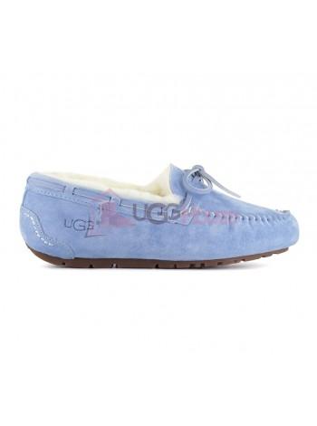 UGG Australia Moccasins Women Blue Мокасины UGG женские со шнурком голубые