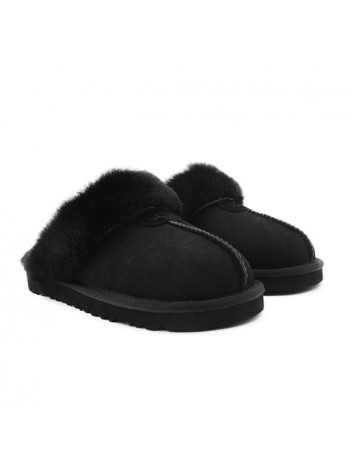 UGG Women's Slipper Coquette Black Домашние тапочки угги черные