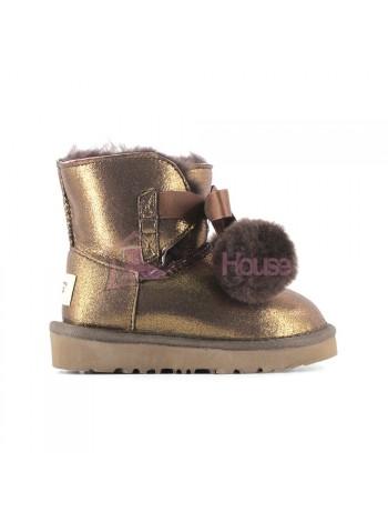 Угги Детские UGG Gita Metallic - Bronze Бронзовые