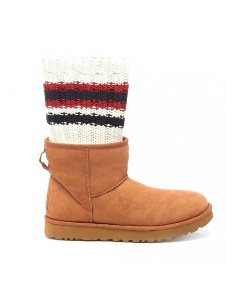 UGG Sacai Knit Classic Mini II Рыжие