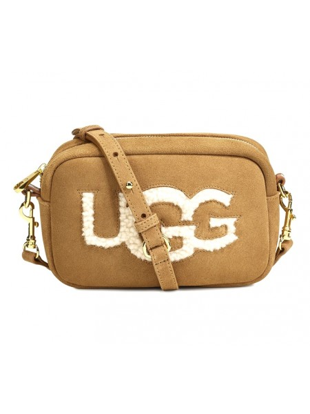 Сумка UGG Janey Sheepskin Crossbody Рыжая