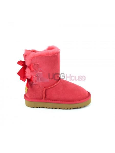 Угги Детские UGG Bailey Bow Red - Красные