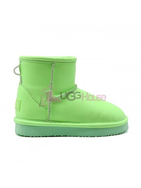 UGG Classic Mini Kids Night Glow Green зеленые