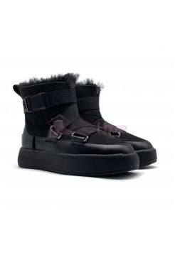 UGG Classic Boom Buckle Boot Black