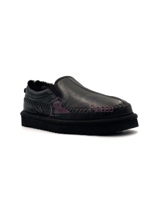 UGG Stitch Slip On Metallic Black