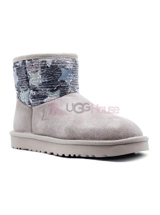 UGG Classic Mini Shabby Star Grey