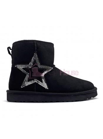 Угги Мини UGG Classic Mini Sequins Black