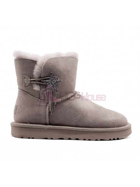 UGG Mini Bailey Button Star Grey