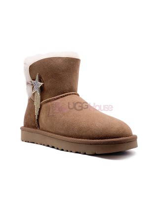 UGG Mini Bailey Button Star Chestnut