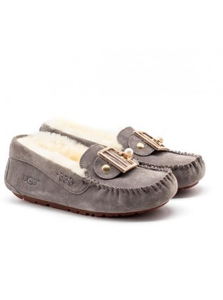 UGG Moccasins Dakota New Pom Grey