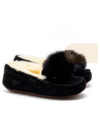 UGG Moccasins Dakota New Pom Black