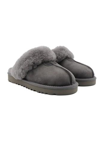 Домашние тапочки угги UGG Slippers Scufette Grey Серые