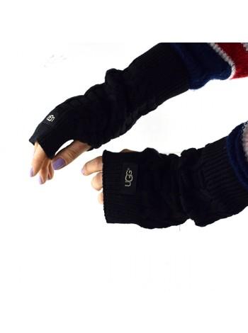 Перчатки-митенки UGG Knit Mitten Black вязаные