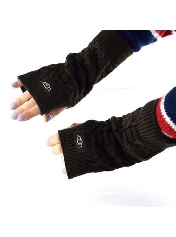 Перчатки-митенки UGG Knit Mitten Chocolate цвета Шоколад вязаные