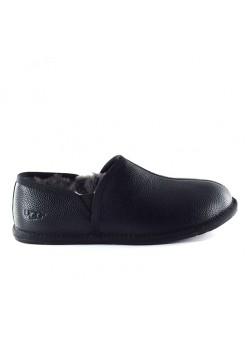 Мужские UGG Slippers Scuff Romeo II - Black Leather