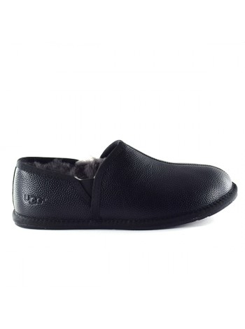 Мужские UGG Slippers Scuff Romeo II - Black Leather