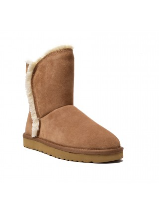 UGG Womens Classic Fluff High Low - Chestnut