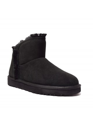 UGG Womens Classic Mini Fluff High Low - Black