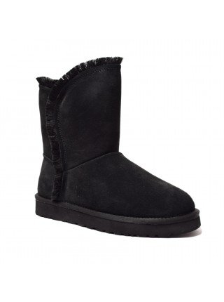 UGG Womens Classic Fluff High Low - Black