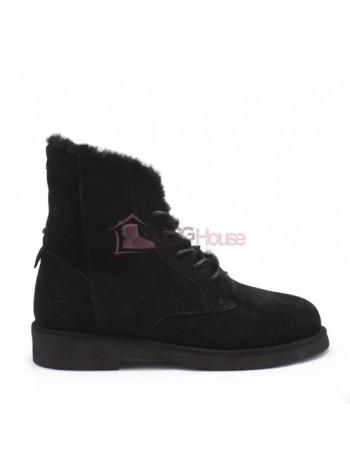 Ботинки на шнурках угги UGG Womens Quincy Boot Black