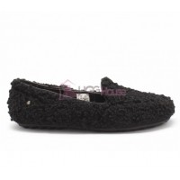 UGG Womens Hailey Fluff Loafer Black