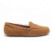 UGG Womens Hailey Fluff Loafer Chestnut