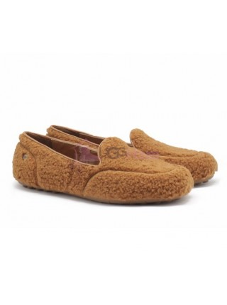 UGG Womens Hailey Fluff Loafer Chestnut