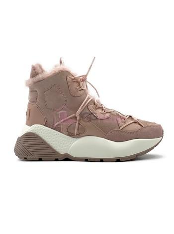 Кроссовки угги UGG Sneakers Cheyenne Trainer Pink Розовые женские зимние