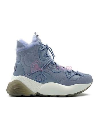 Кроссовки угги UGG Sneakers Cheyenne Trainer Blue голубые женские зимние