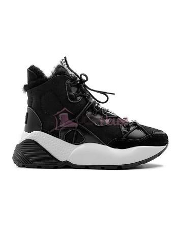 Кроссовки угги UGG Sneakers Cheyenne Trainer Black Черные женские зимние