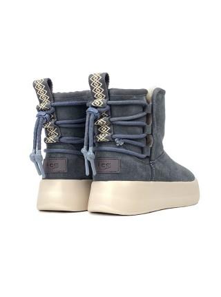Женские Ботинки UGG Classic Boom Ankle Boot - Grey