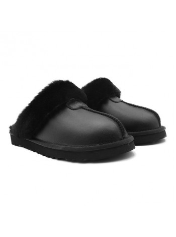 Домашние тапочки угги мужские UGG Slippers Scufette Metallic Black