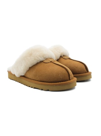 Домашние тапочки угги мужские UGG Slippers Scufette Chestnut