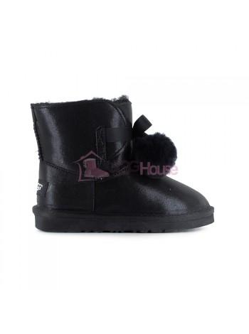 Угги Детские UGG Gita Metallic - Black черные