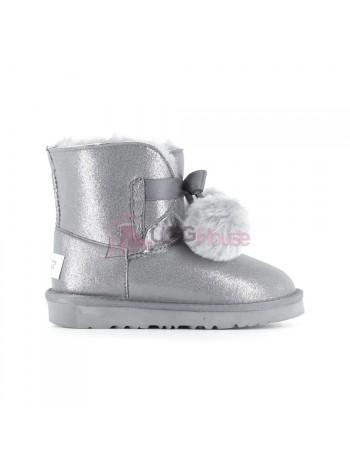 Угги Детские UGG Gita Metallic - Silver серебряные