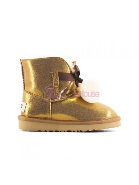 Угги Детские UGG Gita Metallic - Gold золотые