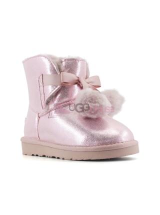 Угги Детские UGG Gita Metallic - Pink Розовые