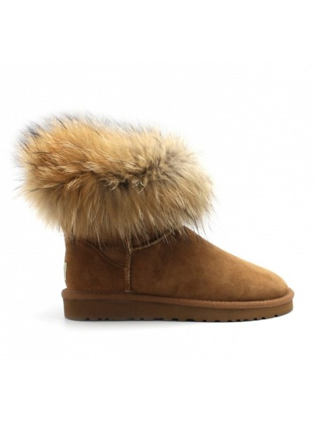 UGG Fox Fur - Chestnut Угги с лисой рыжие