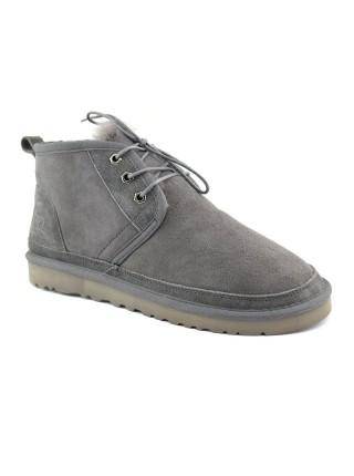 UGG Men's Neumel - Grey Угги мужские на шнурках серые