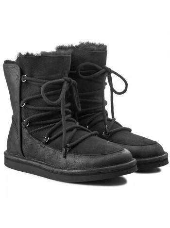 UGG Australia Lodge Black Угги со шнурками Лодж Черные
