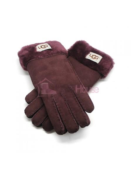 Женские перчатки UGG Wine - 1043