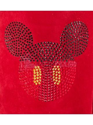 UGG Classic Short Mickey Crystal Красные классические угги с силуэтом Микки Мауса
