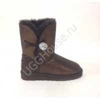 UGG Kids Bailey Bling Chocolate Glitter