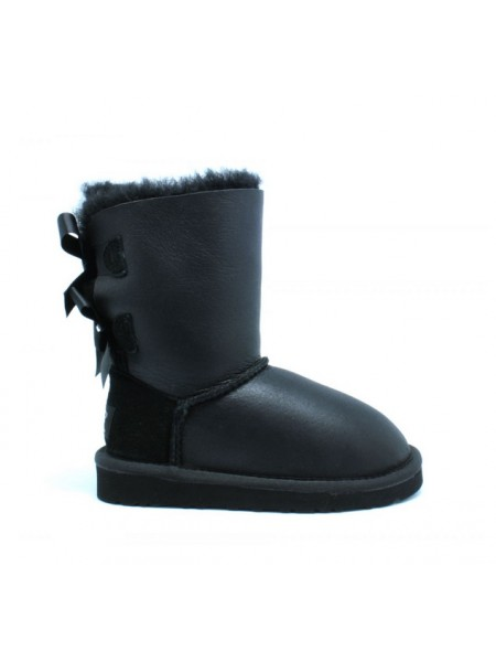 UGG Bailey Bow Kids Metallic Black