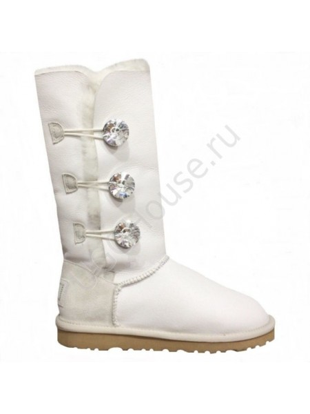 UGG Bailey Bling Triplet White Угги с 3 кристалами Swarovski Белые