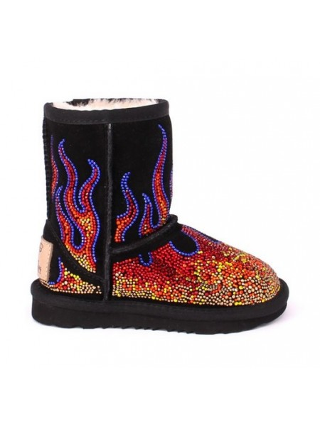 UGG Classic Kids Jeremy Scott Black