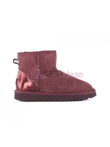 UGG Women's Classic Mini II Metallic Port непромокаемые