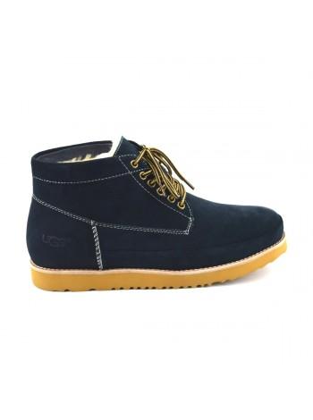 UGG Mens Bethany Navy II Мужские ботинки угги на шнурках синие