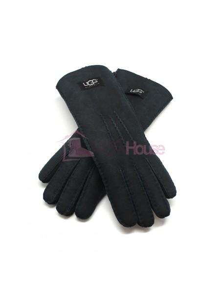 Женские удлиненные перчатки UGG Navy - 1026