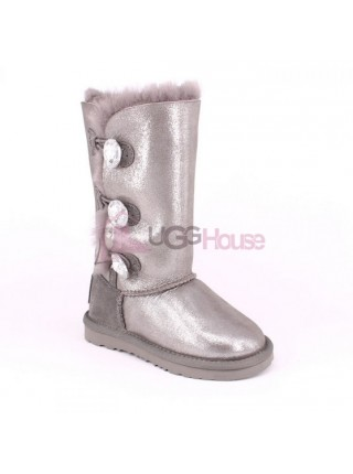 UGG Kids Bailey Bling Triplet Glitter Grey